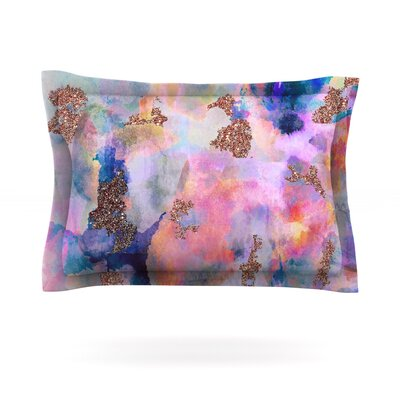 Sparkle Mist by Nikki Strange Featherweight Pillow Sham Size: King, Fabric: Cotton