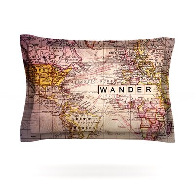 Wander by Sylvia Cook Featherweight Pillow Sham Size: Queen, Fabric: Cotton