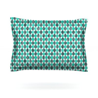 Distressed Circles by Michelle Drew Featherweight Pillow Sham Size: Queen, Fabric: Cotton