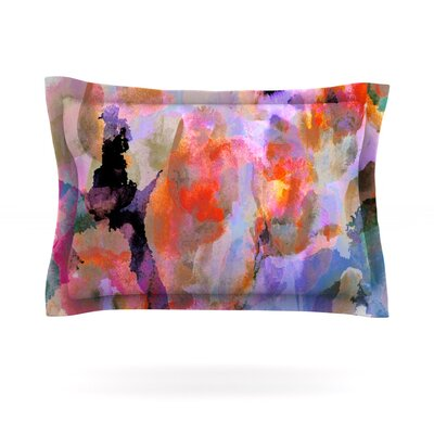 Painterly Blush by Nikki Strange Featherweight Pillow Sham Size: King, Fabric: Cotton