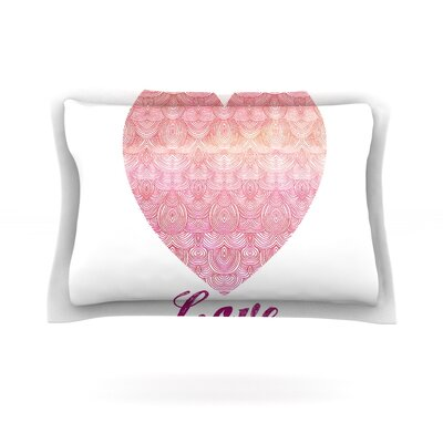 Love by Pom Graphic Design Featherweight Pillow Sham Size: King, Fabric: Cotton