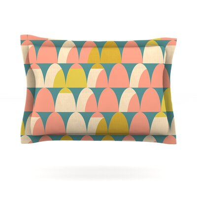 Scallops by Michelle Drew Featherweight Pillow Sham Size: Queen, Fabric: Cotton