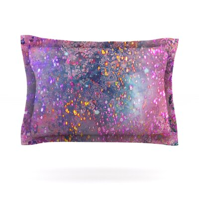 Pink Universe by Marianna Tankelevich Featherweight Pillow Sham Size: Queen, Fabric: Cotton