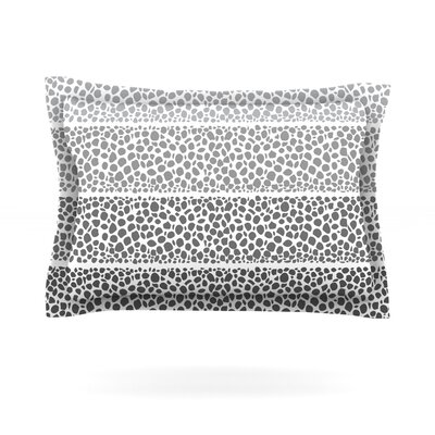 Riverside Pebbles by Pom Graphic Design Featherweight Pillow Sham Size: Queen, Fabric: Cotton