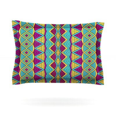 Tribal Soul II by Pom Graphic Design Featherweight Pillow Sham Size: Queen, Fabric: Cotton