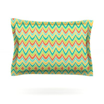 Bright and Bold by Pom Graphic Design Featherweight Pillow Sham Size: Queen, Fabric: Cotton