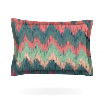 Ikat Chevron by Nika Martinez Featherweight Pillow Sham Size: King, Fabric: Cotton