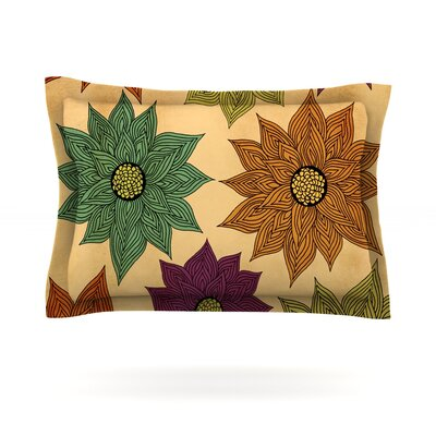 Color Me Floral by Pom Graphic Design Featherweight Pillow Sham Size: Queen, Fabric: Cotton