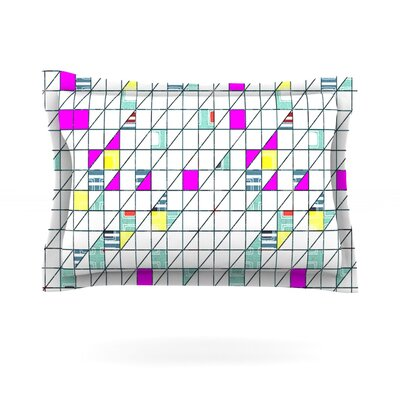 Squares by Michelle Drew Featherweight Pillow Sham Size: King, Fabric: Cotton