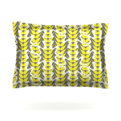 Whirling Leaves by Miranda Mol Featherweight Pillow Sham Size: King, Fabric: Cotton