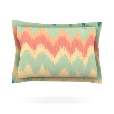 Ikat Chevron II by Nika Martinez Featherweight Pillow Sham Size: King, Fabric: Cotton