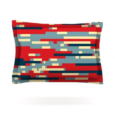Nada by Trebam Featherweight Pillow Sham Size: King, Fabric: Cotton