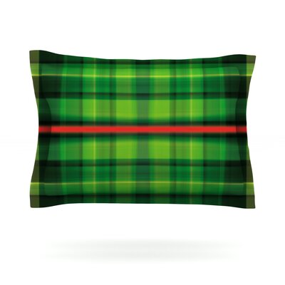 Tartan by Matthias Hennig Featherweight Pillow Sham Size: King, Fabric: Cotton