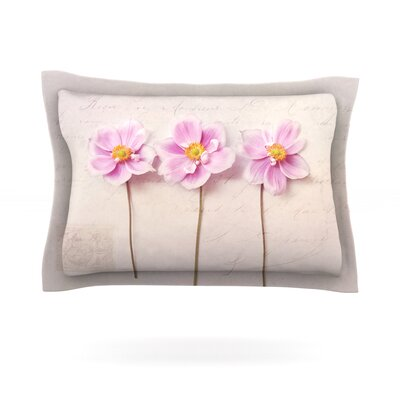 Anemone Trio by Sylvia Cook Featherweight Pillow Sham Size: Queen, Fabric: Cotton