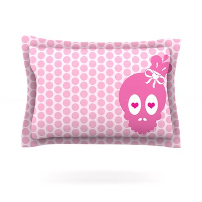 Skull by Nick Atkinson Featherweight Pillow Sham Size: Queen, Fabric: Cotton