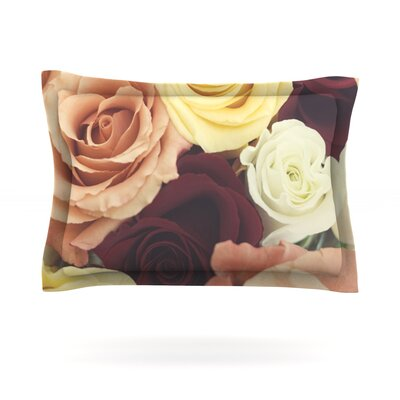 Vintage Roses by Libertad Leal Featherweight Pillow Sham Size: King, Fabric: Cotton
