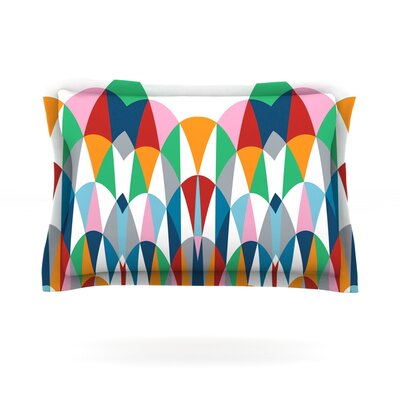 Modern Day Arches by Project M Featherweight Pillow Sham Size: Queen, Fabric: Cotton