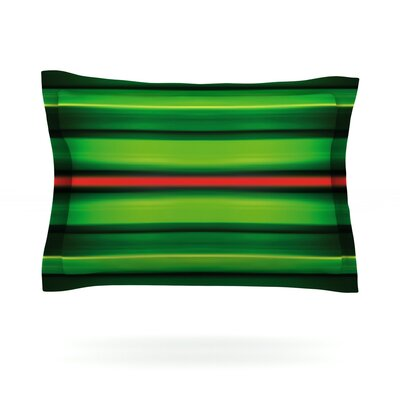 Stripes by Matthias Hennig Featherweight Pillow Sham Size: Queen, Fabric: Cotton