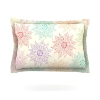 Spring Florals by Pom Graphic Design Featherweight Pillow Sham Size: Queen, Fabric: Cotton