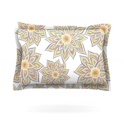 Floral Dance by Pom Graphic Design Featherweight Pillow Sham Size: Queen