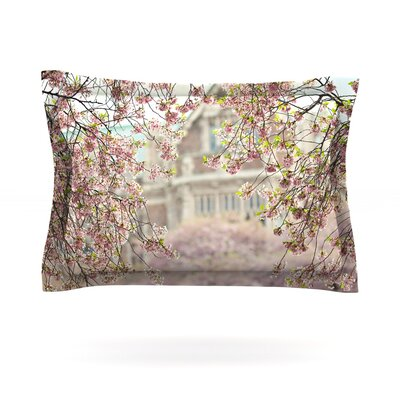 Pink Dream by Sylvia Cook Featherweight Pillow Sham Size: Queen, Fabric: Cotton