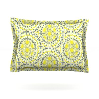 Sprouting Cells by Miranda Mol Featherweight Pillow Sham Size: Queen, Fabric: Cotton