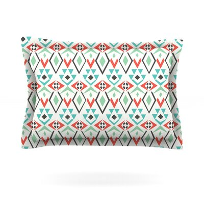 Tribal Leaves by Pom Graphic Design Pillow Sham Size: Queen, Fabric: Cotton