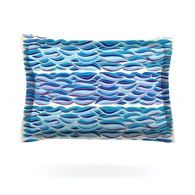 The High Sea by Pom Graphic Design Featherweight Pillow Sham Size: King, Fabric: Cotton