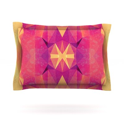 Retro Pink Geometrie by Nika Martinez Featherweight Pillow Sham Size: King, Fabric: Cotton