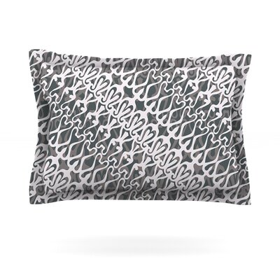 Silver Lace by Miranda Mol Featherweight Pillow Sham Size: King, Fabric: Cotton