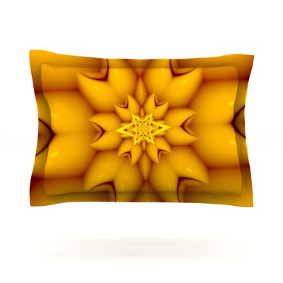 Citrus Star by Michael Sussna Featherweight Pillow Sham Size: King, Fabric: Cotton