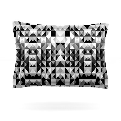 Geometrie Black & White by Nika Martinez Featherweight Pillow Sham Size: Queen, Fabric: Cotton