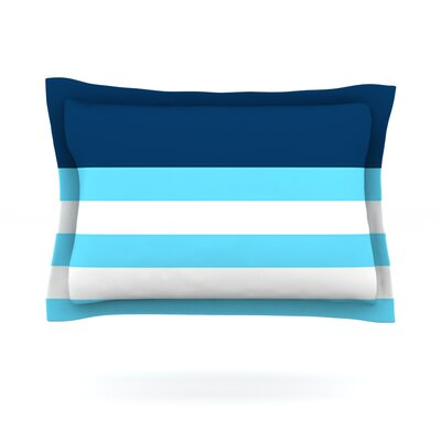 Nauticki Blue by Trebam Featherweight Pillow Sham Size: King, Fabric: Cotton