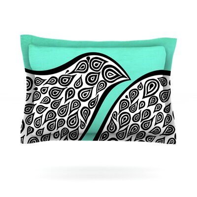 Two Romantic Birds by Pom Graphic Design Featherweight Pillow Sham Size: King, Fabric: Cotton