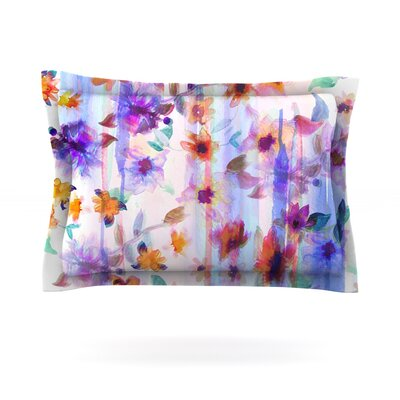 Floral Ombre by Nikki Strange Featherweight Pillow Sham Size: King, Fabric: Cotton