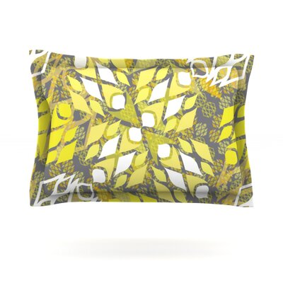 Sandy Signs by Miranda Mol Featherweight Pillow Sham Size: Queen, Fabric: Cotton