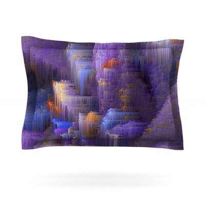Purple Mountain Majesty by Michael Sussna Featherweight Pillow Sham Size: King, Fabric: Cotton