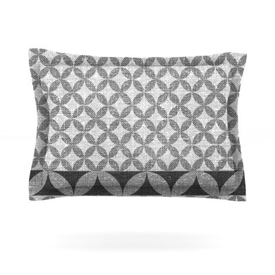 Diamond by Nick Atkinson Woven Pillow Sham Size: King, Color: Black