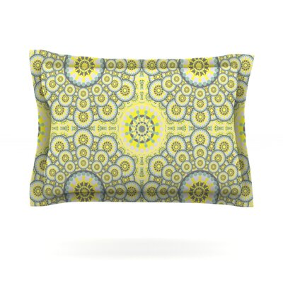 Multifaceted Flowers by Miranda Mol Featherweight Pillow Sham Size: Queen, Fabric: Cotton