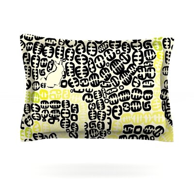 Oliver by Theresa Giolzetti Featherweight Pillow Sham Size: Queen, Color: Yellow, Fabric: Cotton