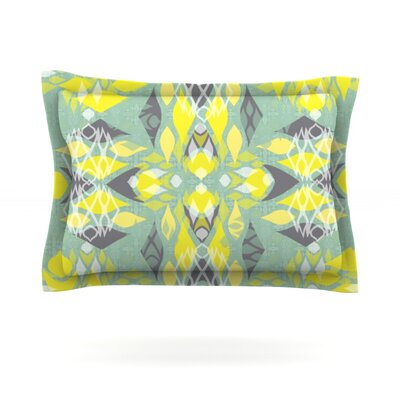Joyful Teal by Miranda Mol Featherweight Pillow Sham Size: Queen, Fabric: Cotton