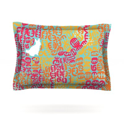 Oliver by Theresa Giolzetti Featherweight Pillow Sham Size: King, Color: Magenta, Fabric: Cotton