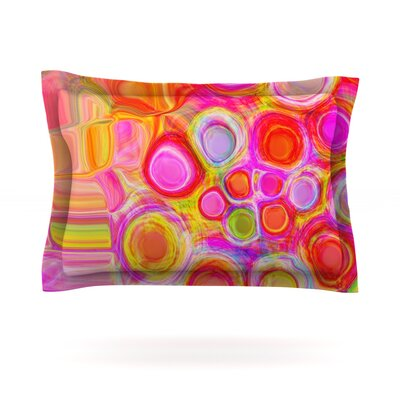 Spring by Nina May Featherweight Pillow Sham Size: King, Fabric: Cotton