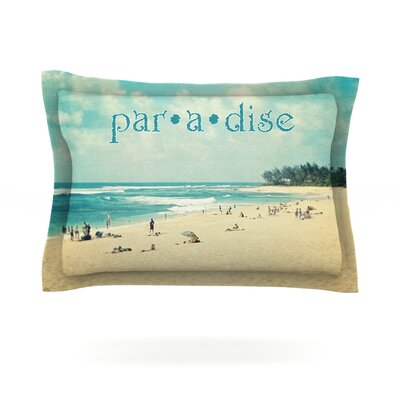 Paradise by Sylvia Cook Featherweight Pillow Sham Size: Queen, Fabric: Cotton