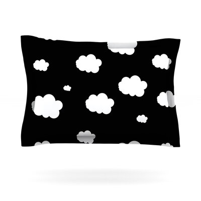Clouds by Suzanne Carter Featherweight Pillow Sham Size: King, Fabric: Cotton