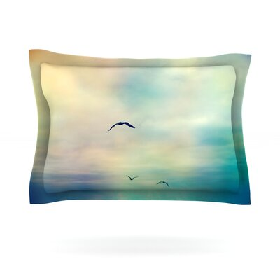 Freedom by Sylvia Cook Featherweight Pillow Sham Size: Queen, Fabric: Cotton
