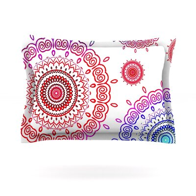 Rainbow Infinity by Monika Strigel Featherweight Pillow Sham Size: Queen, Fabric: Cotton