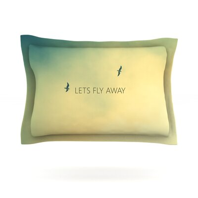 Lets Fly Away by Richard Casillas Featherweight Pillow Sham Size: Queen, Fabric: Cotton
