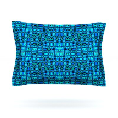 Variblue by Nina May Featherweight Pillow Sham Size: King, Fabric: Cotton