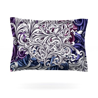 Celtic Floral I by Nick Atkinson Featherweight Pillow Sham Size: King, Fabric: Cotton